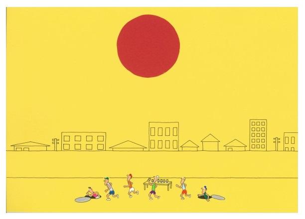 「猛暑のマラソン」